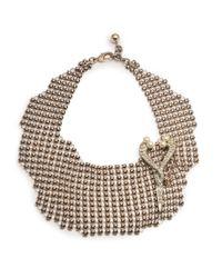 Lulu Frost - Black Single Mesh Necklace - Gold - Lyst