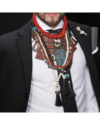 Lulu Frost | G. Frost X Michael Bastian - Horsehair Beaded Necklace Red | Lyst
