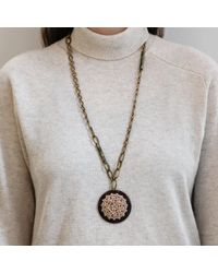 Lulu Frost - Metallic *vintage* Long One-point Necklace 3 - Lyst