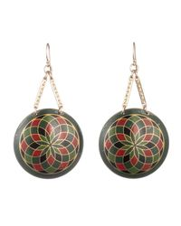Lulu Frost - Multicolor Vintage Checkered Celluloid Vee Earrings - Lyst