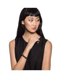 Lulu Frost - Navy Velvet + Black Pearl Bracelet - Lyst