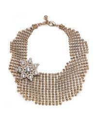 Lulu Frost - Metallic Single Mesh Necklace - Gold - Lyst