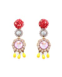 Lulu Frost - Multicolor Vintage Sequined Passage Clip On Earrings - Lyst
