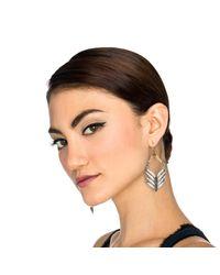 Lulu Frost - Metallic Symmetry Drop Earring - Lyst