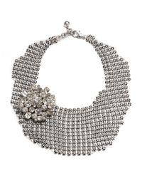 Lulu Frost | Metallic Single Mesh Necklace - Silver | Lyst