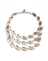 Lulu Frost | Metallic Horizon Triple Necklace | Lyst