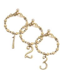 Lulu Frost - Metallic Plaza Number Bracelet - Diamond Chain - Lyst