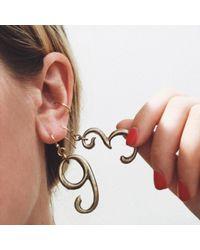 Lulu Frost - Metallic Plaza Number Earring - Lyst