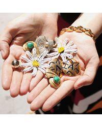 Lulu Frost - Yellow *vintage* Chanel Clip-on Earrings - Lyst