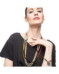 Lulu Frost - Metallic Plaza Letter Necklace - Lyst