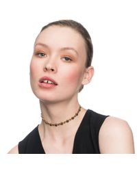 Lulu Frost - Metallic Diamond Chain Choker - Lyst