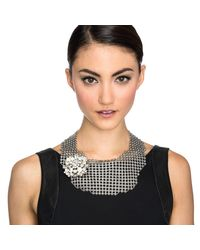 Lulu Frost - Multicolor Single Mesh Necklace - Silver - Lyst
