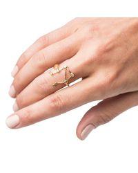Lulu Frost - Metallic Zodiacs 14k Libra + Air Ring - Lyst