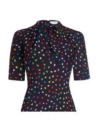 Lulu Guinness Multicolor Confetti Lip Print Lilith Dress