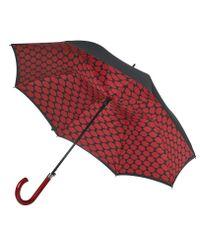 Lulu Guinness Multicolor Lips Grid Bloomsbury Umbrella