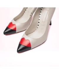 Lulu Guinness Multicolor Tricolour Smooth Leather Babette Court