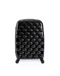 Lulu Guinness - Black Hard Sided Lips Medium Spinner Case - Lyst