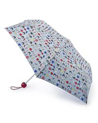 Lulu Guinness - Blue Lulumoji Superslim Umbrella - Lyst