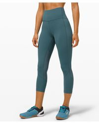 lululemon athletica Blue Pace Rival High-rise Crop 22""