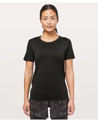 lululemon athletica Black Swiftly Breeze Short Sleeve