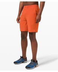 """lululemon athletica Orange T.h.e. Short 9"""" Liner for men"""