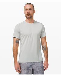 lululemon athletica Gray Fast And Free Short Sleeve for men