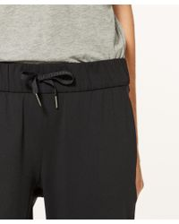 lululemon athletica Black On The Fly Pant