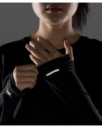 lululemon athletica Black Rise And Run Long Sleeve