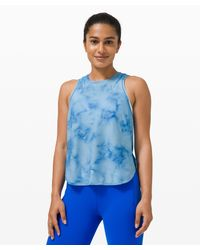 lululemon athletica Blue Lightweight Run Kit Tank Top