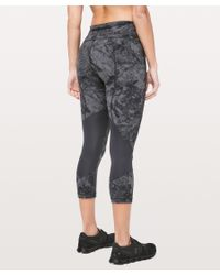 lululemon athletica Gray Pace Rival Crop