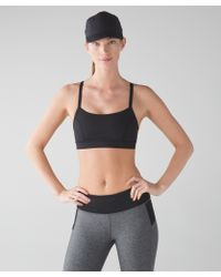 29cdf307f lululemon athletica Rise And Run Bra in Black - Lyst