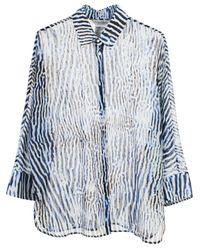 Max Mara White/blue Prati Shirt