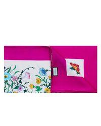 Gucci Purple Foulard Flora Floreale