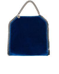Stella McCartney Blue Velvet Small Tote Falabella Cross Body Bag