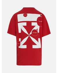 T-SHIRT PASCAL MINI LOGO ROSSA di Off-White c/o Virgil Abloh in Red da Uomo