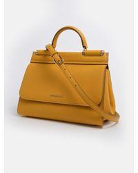 BORSA SICILY GIALLA di Dolce & Gabbana in Yellow