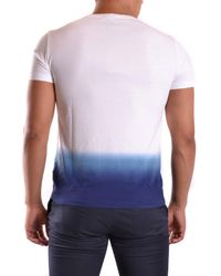 Burberry - Men's Mcbi056138o White/blue Cotton Polo Shirt for Men - Lyst