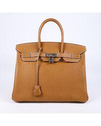 Hermès Brown Birkin 35 Fauve Barenia Faubourg