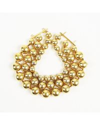 Chanel Metallic Vintage Bead Ball Strand Necklace