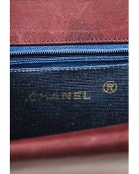 """Chanel - Vintage Purple Quilted Lambskin Leather """"double Flap"""" Shoulder Bag - Lyst"""