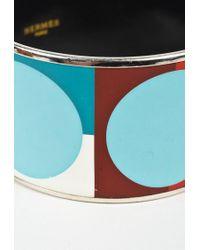 "Hermès Multicolor Multi Palladium Coated Metal ""extra Wide Bangle"" Bracelet"