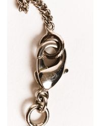 Chanel Metallic Silver Tone Cc Pendant Crystal Necklace Silver/logo Sz:
