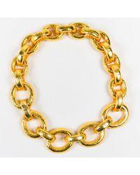 Jose & Maria Barrera - Metallic Gold Tone Chunky Chain Necklace - Lyst