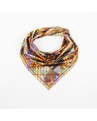 "Hermès Multicolor Multiolor Silk ""pani La Shar Pawnee"" Printed Triangle Scarf"