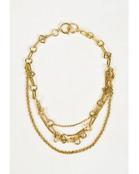 "Louis Vuitton - Metallic Gold Tone Metal ""collier Vegas Chain"" Necklace - Lyst"
