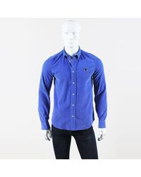 KENZO - Mens Blue Corduroy Collared Button Up Ls Shirt for Men - Lyst