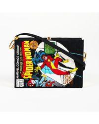 "Olympia Le-Tan Black Fabric ""spider-woman Comic Book"" Clutch Bag"