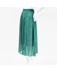 Forever 21 Hunter Green White Floral Print Pleated Midi Skirt