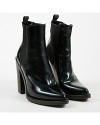 Brunello Cucinelli Black Brown Leather Knit Paneled Ankle Boots