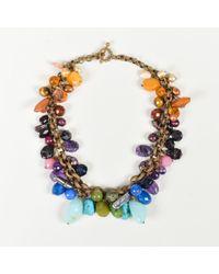 Stephen Dweck - Multicolor Gemstone Bead & Pearl Collar Necklace - Lyst